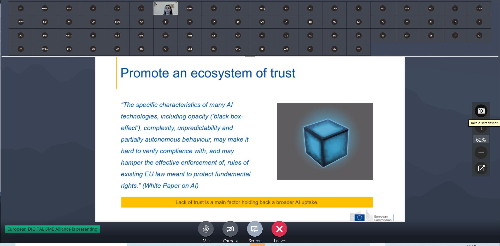 SME Focus Group on AI November 2020: trustworthy AI for SMEs 4