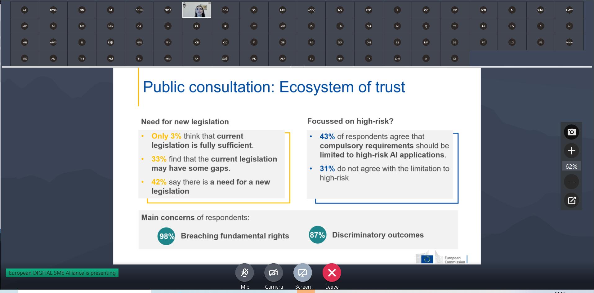 SME Focus Group on AI November 2020: trustworthy AI for SMEs 5