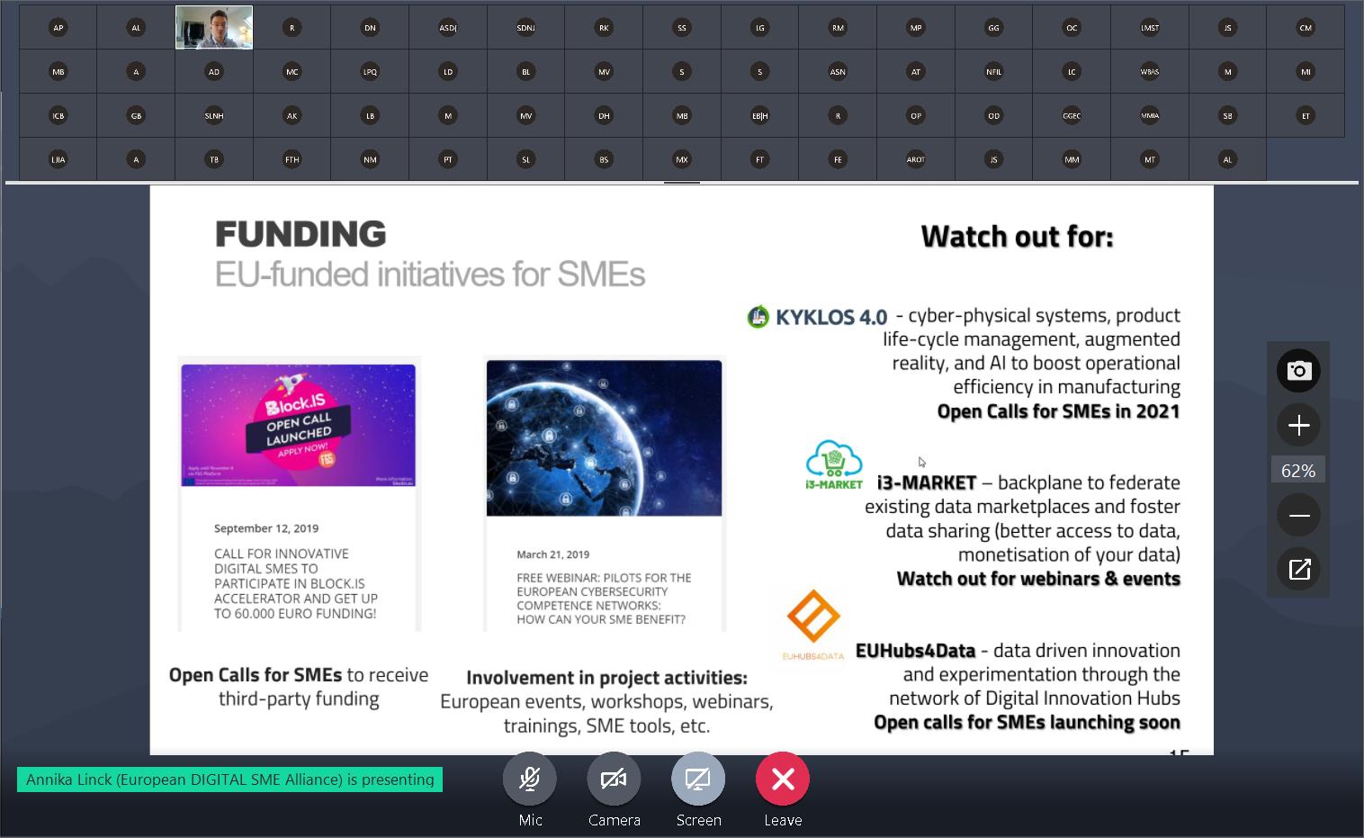 SME Focus Group on AI November 2020: trustworthy AI for SMEs 6